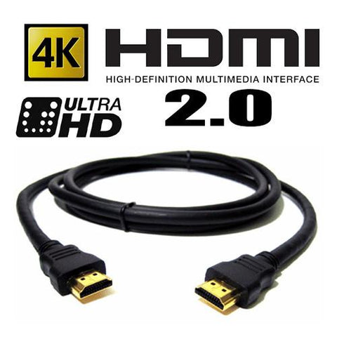 HDMI Cable  V2.0 ULTRA HD 4K  ( GOLD CONNECTORS )