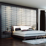 Natural Bamboo 3D Wall panel Decorative Wall Ceiling Tiles Cladding Wallpaper, Name- 'Bladet',