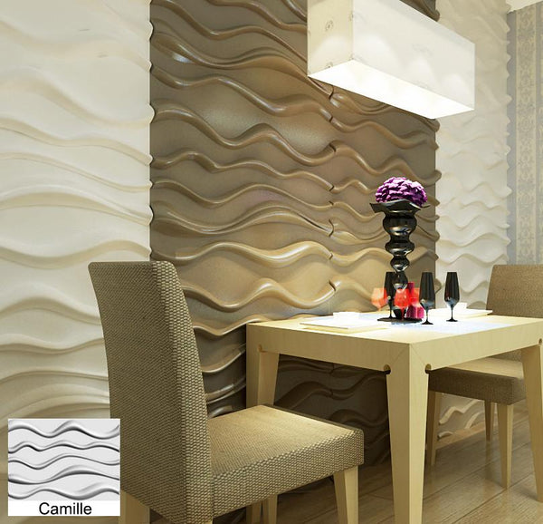 Natural Bamboo 3D Wall panel Decorative Wall Ceiling Tiles Cladding Wallpaper, Name- 'Camile',