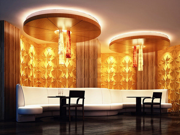 Natural Bamboo 3D Wall panel Decorative Wall Ceiling Tiles Cladding Wallpaper, Name- 'Adele',