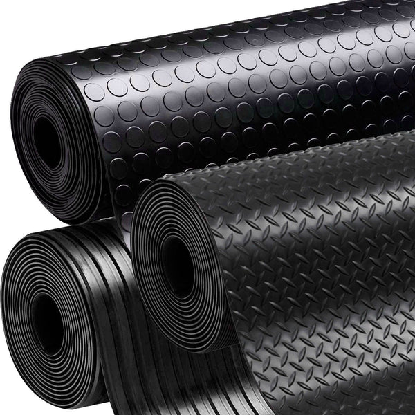 Rubber Flooring Garage Sheeting Matting Rolls 1.0m Wide