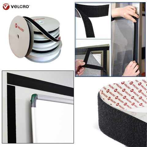 10cm (100mm) Width, Black VELCRO® Brand Self Adhesive Tape Hook and loop Sticky Heavy Duty Fastener