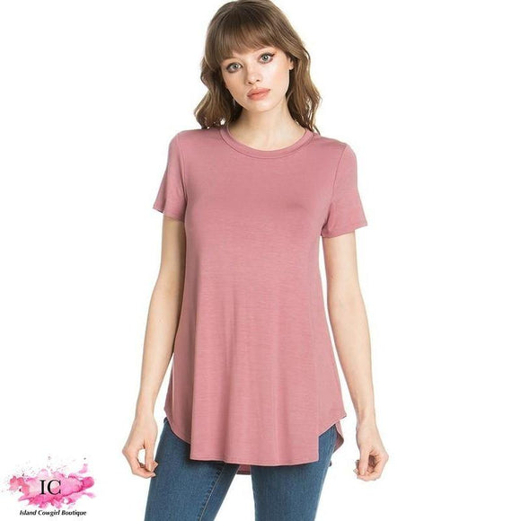 Solid Color Tunic Top