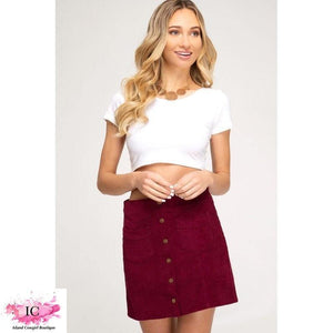 Hey There Corduroy Skirt - Island Cowgirl Boutique