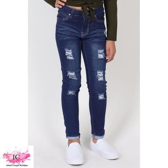 Tween Distressed Jeans - Island Cowgirl Boutique