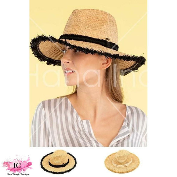 CC Frayed Panama Hat