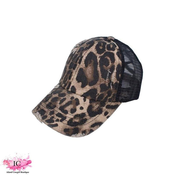 Mesh Ponytail Cap - Island Cowgirl Boutique