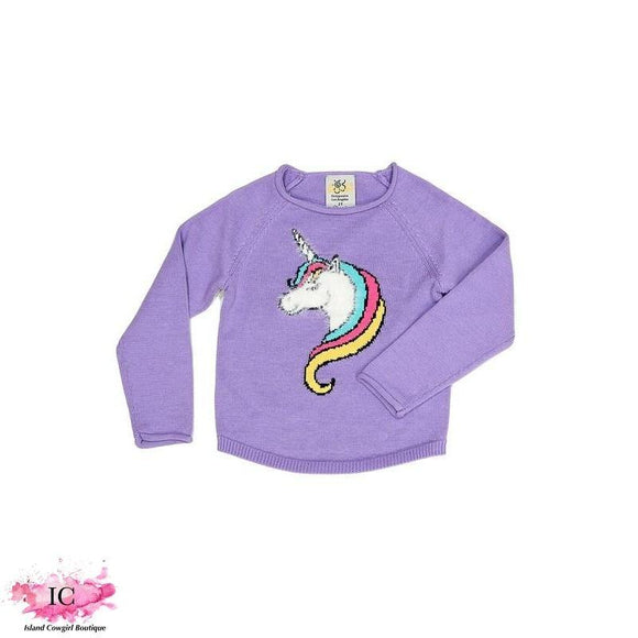 Adley Unicorn Sweater - Island Cowgirl Boutique