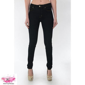 Black Curvy Girl Skinny Jeans - Island Cowgirl Boutique