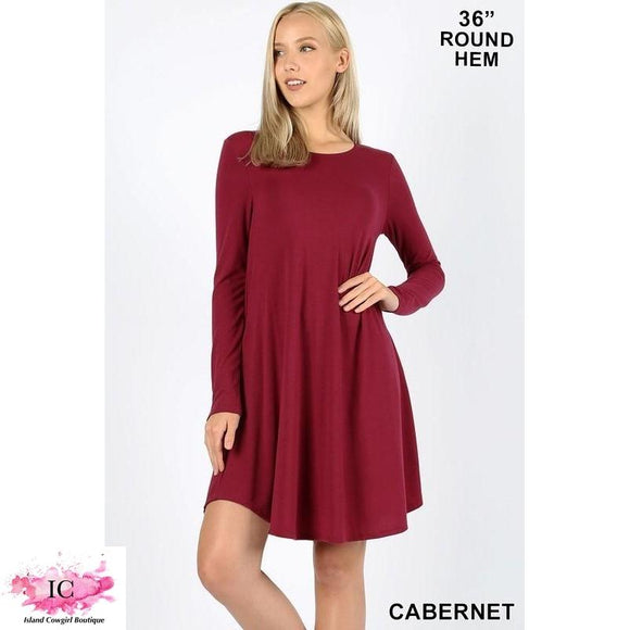 Solid Knit Dress - Island Cowgirl Boutique