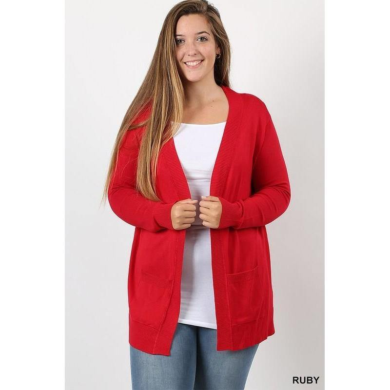 *Curvy Open Cardigan Sweater