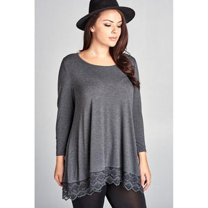 *Lace Trim Tunic
