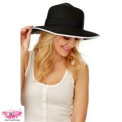 Summer Straw Solid Panama Hat