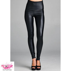 Faux Leather Spandex Leggings