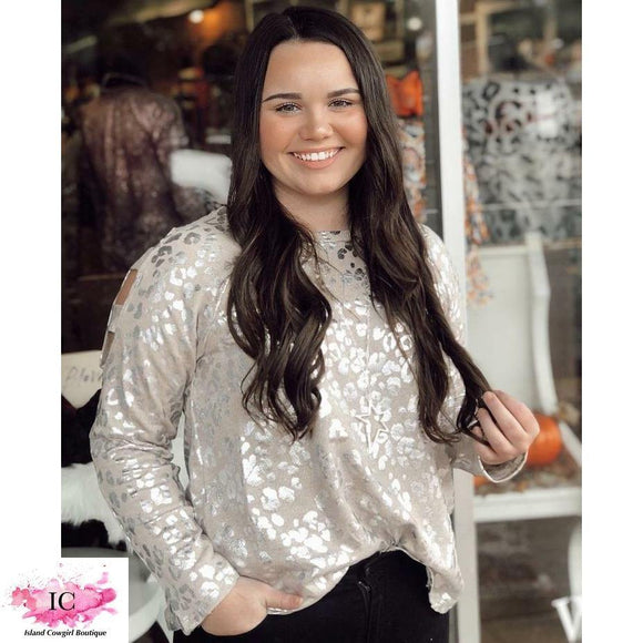 Curvy Girl Give You Access Metallic Top - Island Cowgirl Boutique