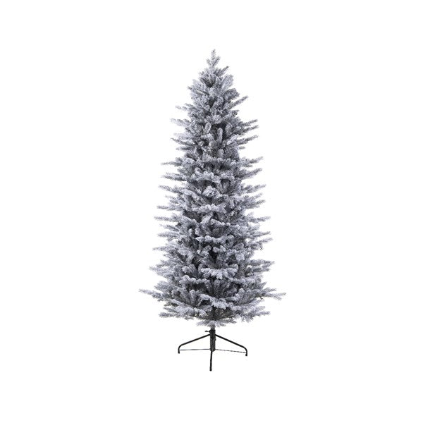 Everlands 7ft 'Frosted Grandis Slim Fir' Artificial Christmas Tree