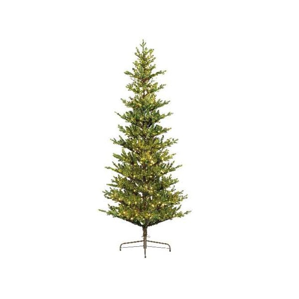 Everlands -'7ft Queensland Slim Prelit' Artificial Christmas Tree