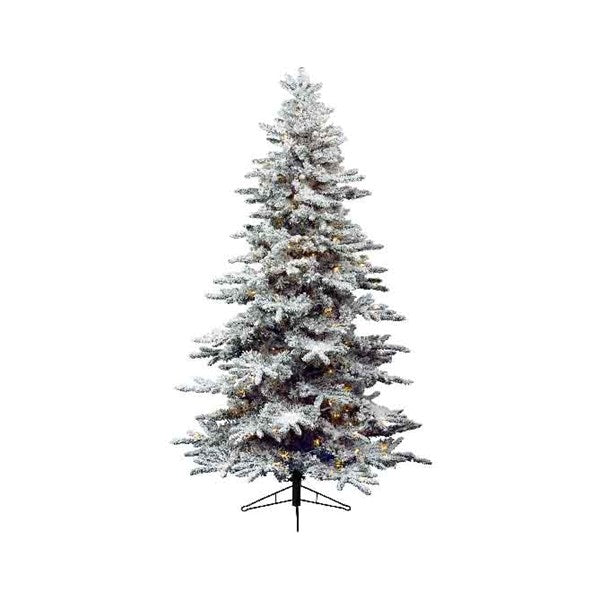 Everlands -'7ft Snowy Alaskan Prelit' Artificial Christmas Tree