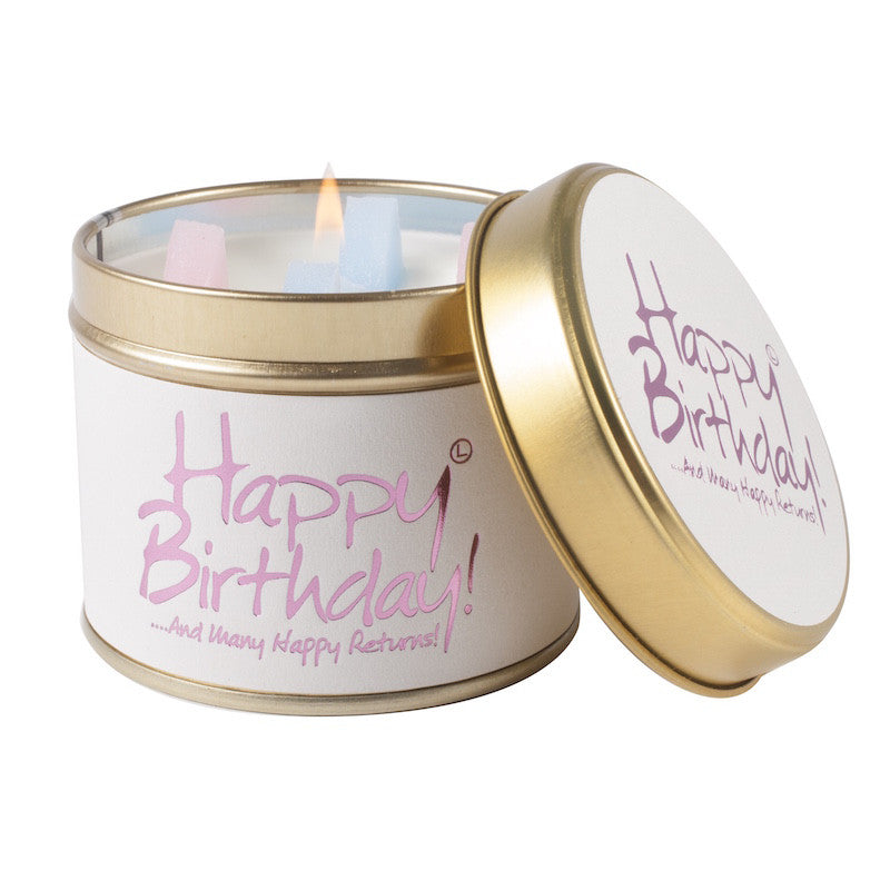Lily Flame - 'Happy Birthday' Scented Tin