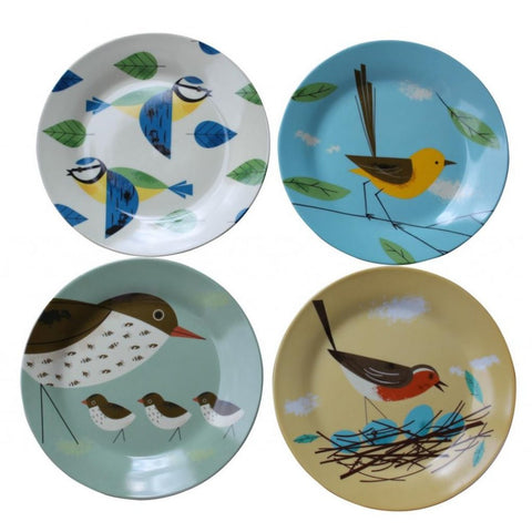 Magpie - Birdy 'Set Of 4' Side Plates