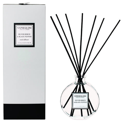 Stoneglow - 'Silver Birch & Black Pepper' Reed Diffuser