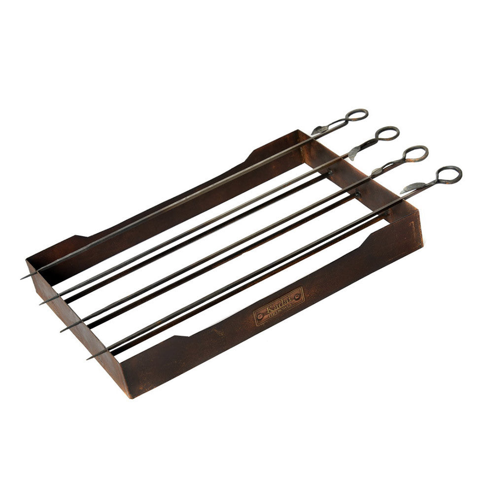 Kadai - 'Set Of 4 Skewers & Rack'
