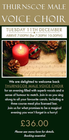 Thurnscoe Male Voice Choir - Tuesday 11th December