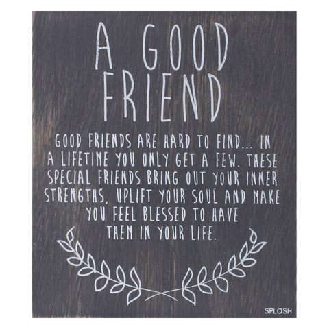 Splosh - 'A Good Friend' Vintage Plaque