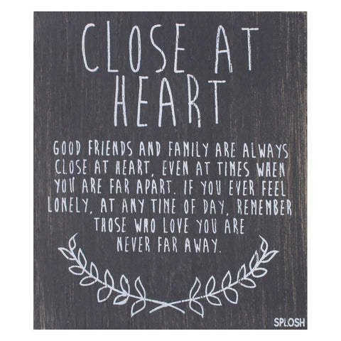 Splosh - 'Close At Heart' Vintage Plaque