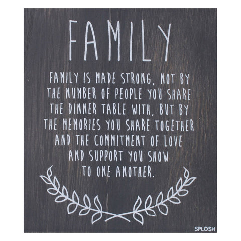 Splosh - 'Family' Vintage Plaque