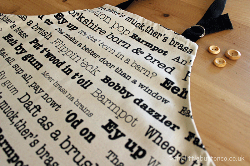 Little Button Co. 'Yorkshire Sayings' Apron