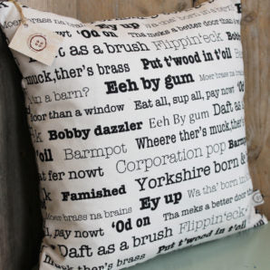 Little Button Co. 'Yorkshire Sayings' Cushion