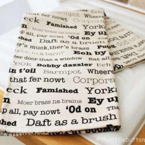 Little Button Co. 'Yorkshire Sayings' Tea Towel