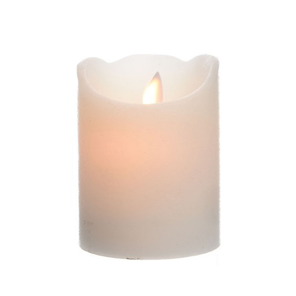 LED Waving Flame Wax Candle