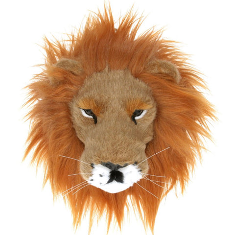 Faux Fur Lion Head Plaque