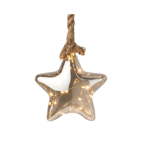 Lumineo Micro LED Glass Star On Rope