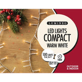 Lumineo LED Compact Twinkle Lights (Warm White w/ Transparent Cable)