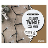 Lumineo 240 LED Twinkle Lights (Cool White)