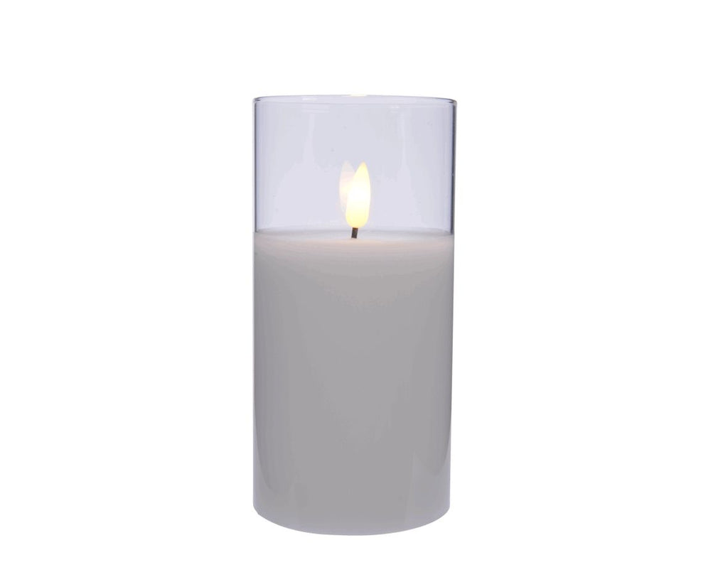LED Glass Votive Candle
