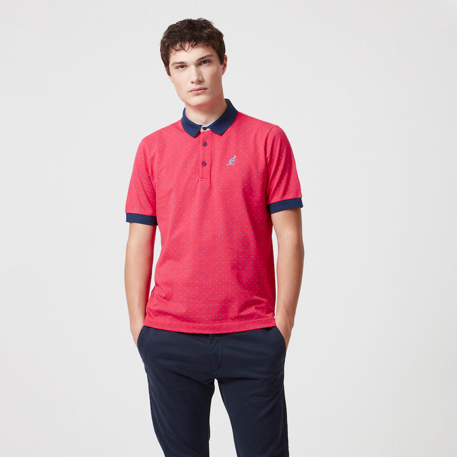 Cotton Pique Polka Dot Polo