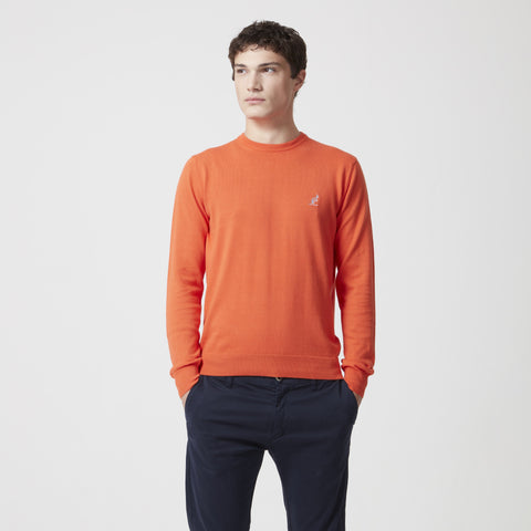 Crew Neck Fine Cotton Sweater