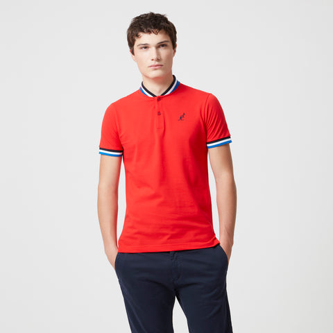 Baseball Collar Pique Polo