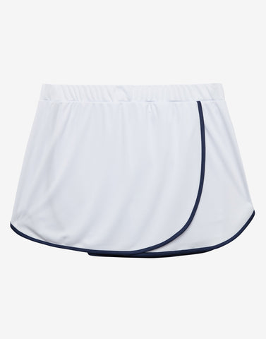 White Wrap Over Tennis Skort