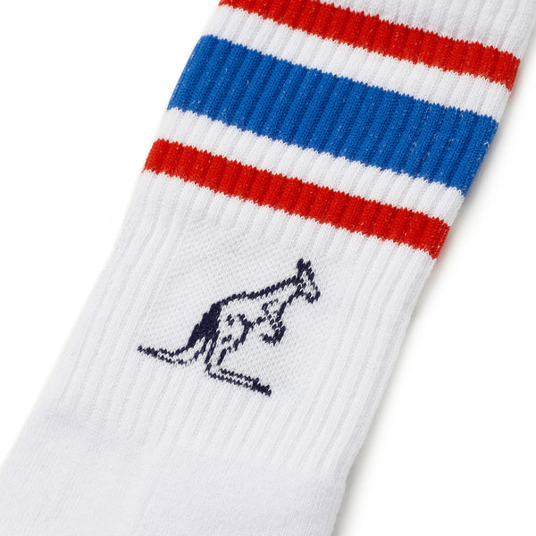 Australian Sports sock with 2 colour stripe