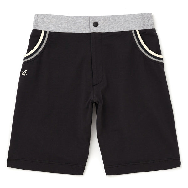 Red Court Jersey Short With Taped Pockets