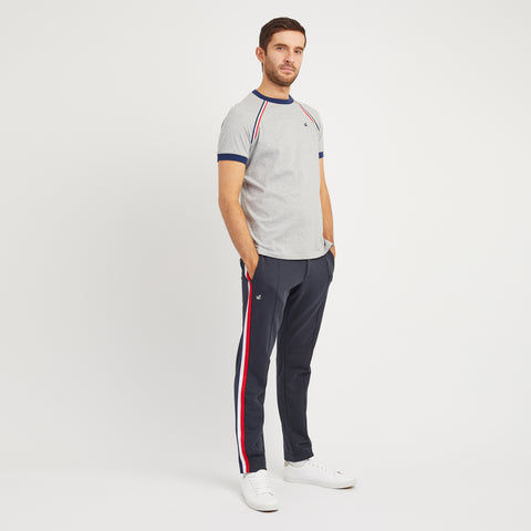 Red Court Sweat Pant With Side Taping