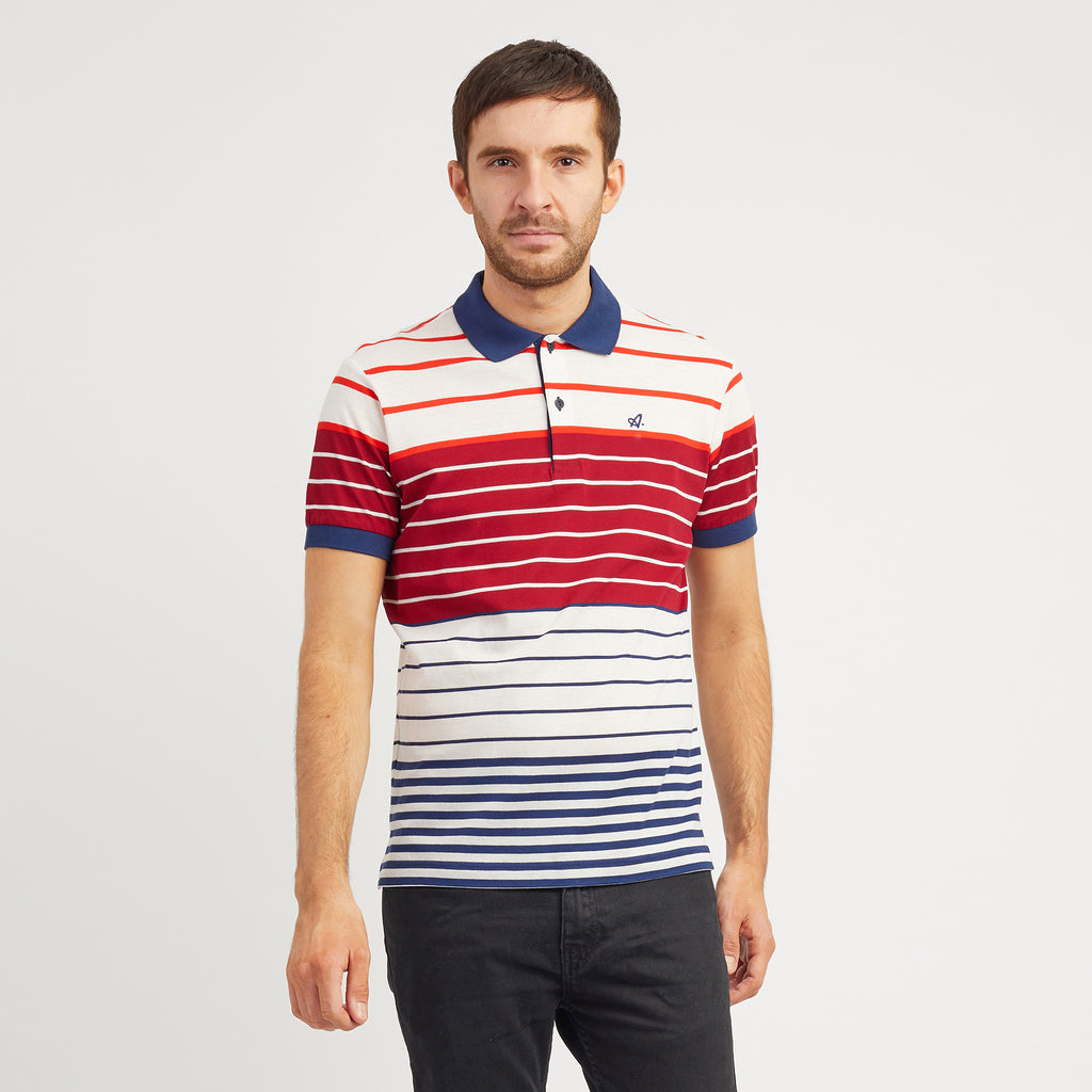 Red Court Multi Stripe Polo