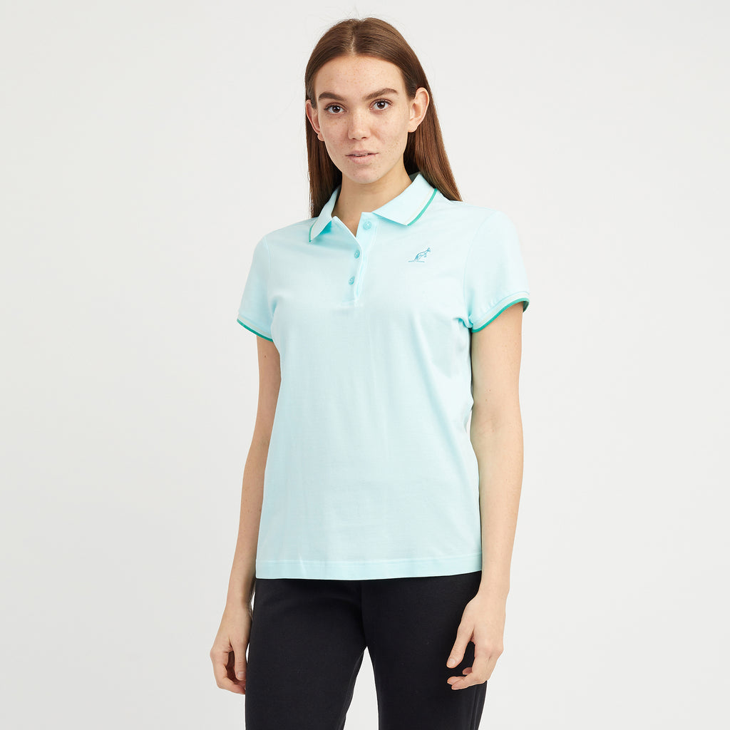 Womens Tipped Pique Polo Shirt
