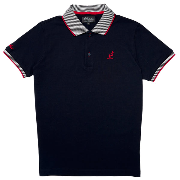 Men's Pique Polo With Stripe Collar