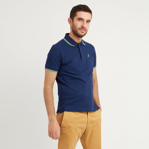 Men's Twin Tipped Stretch Pique Polo - Made in Italy